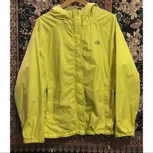 THE NORTH FACE NEON YELLOW VENTURE 2 RAIN JACKET